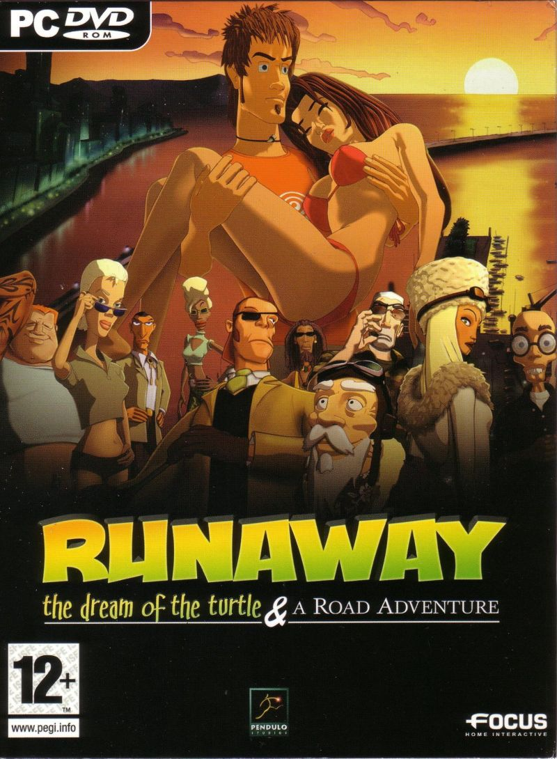 Runaway: The Dream of the Turtle & A Road Adventure Windows Front Cover Sleeve