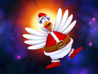 Chicken Invaders: Revenge of the Yolk - Christmas Edition Windows Front Cover Interaction Studios release