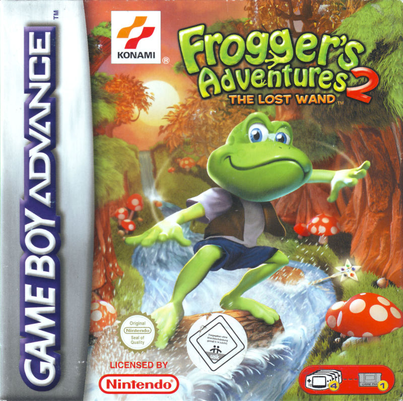 Frogger's Adventures 2: The Lost Wand Game Boy Advance Front Cover