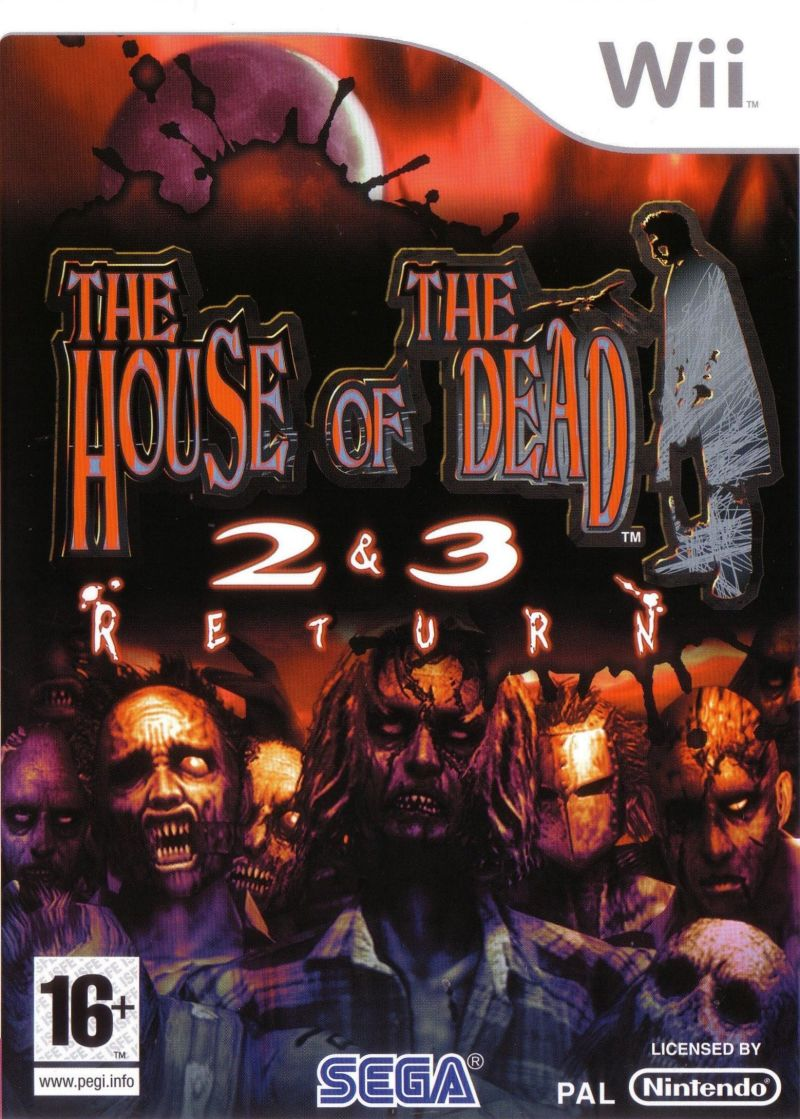 The House of the Dead 2 & 3 Return Wii Front Cover