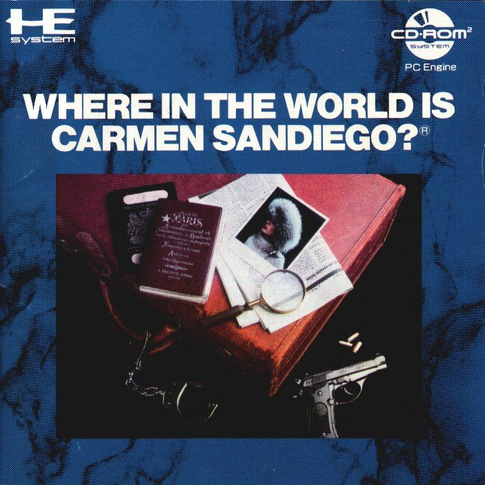 Where in the World Is Carmen Sandiego? TurboGrafx CD Front Cover
