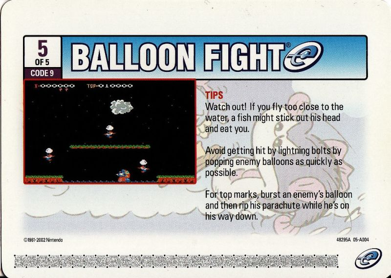 Balloon Fight Game Boy Advance Media e-Card 5 - Front