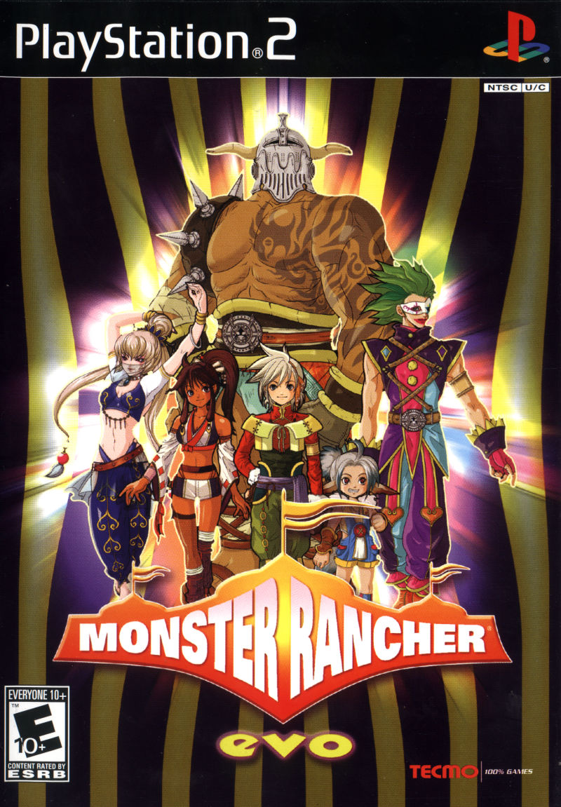 Monster Rancher EVO PlayStation 2 Front Cover