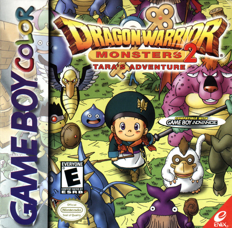 Dragon Warrior Monsters 2: Tara's Adventure  Game Boy Color Front Cover