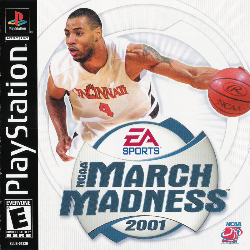 NCAA March Madness 2001 PlayStation Front Cover