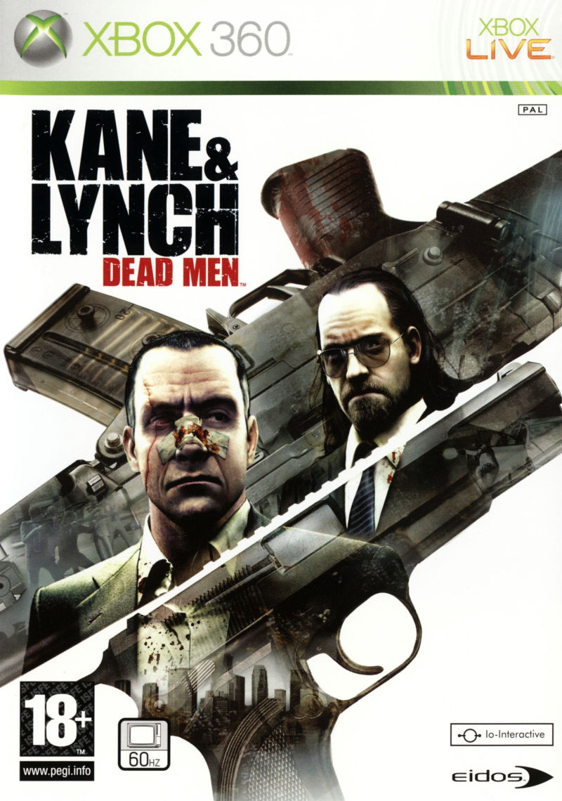 Kane & Lynch: Dead Men Xbox 360 Front Cover