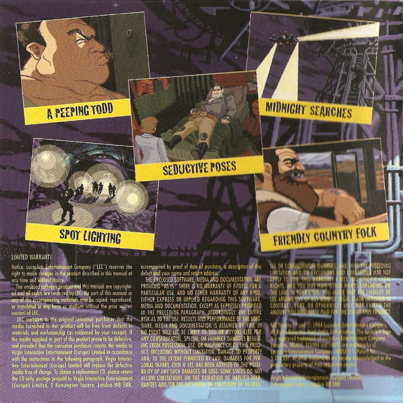 Full Throttle DOS Other Jewel Case - Inside