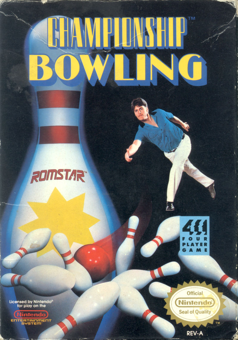 Championship Bowling NES Front Cover