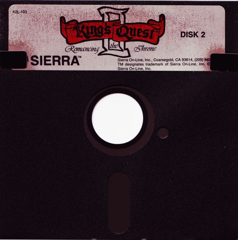 King's Quest II: Romancing the Throne PC Booter Media Disk 2/2