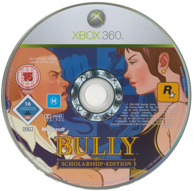 Bully: Scholarship Edition Xbox 360 Media