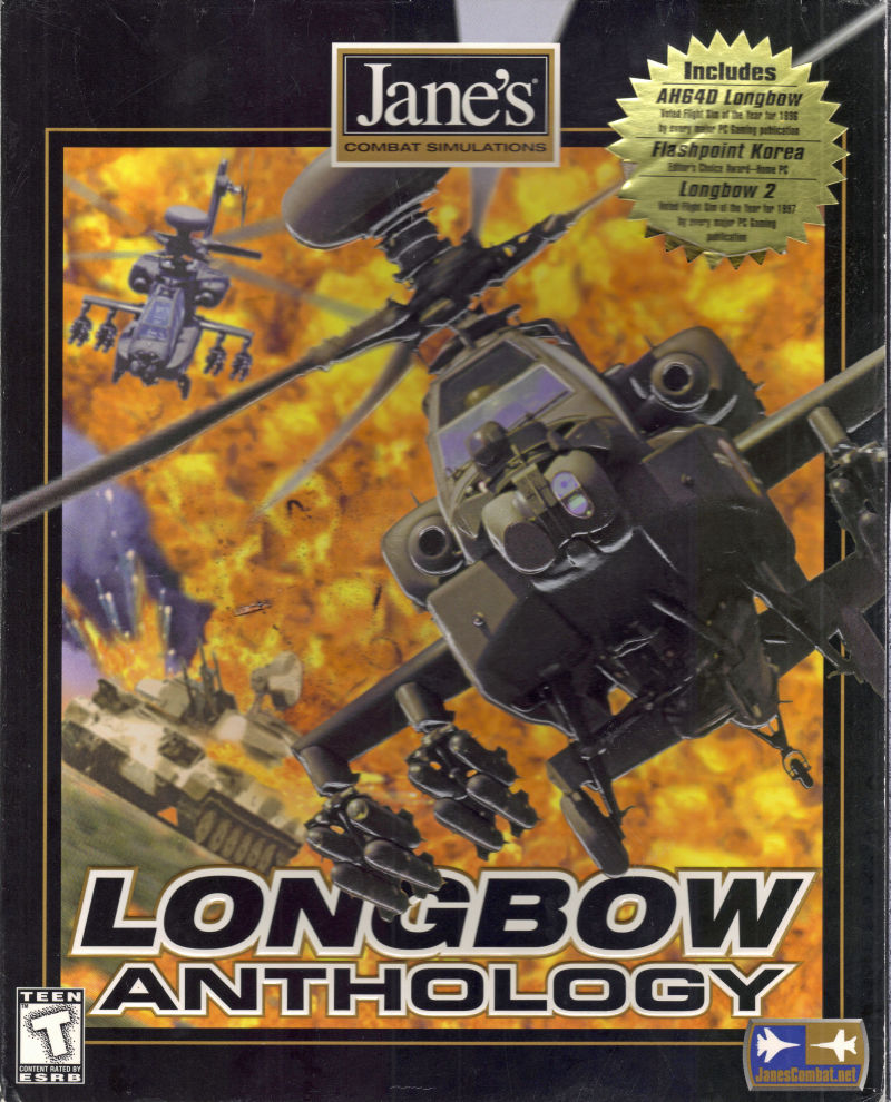Jane's Combat Simulations: Longbow Anthology DOS Front Cover