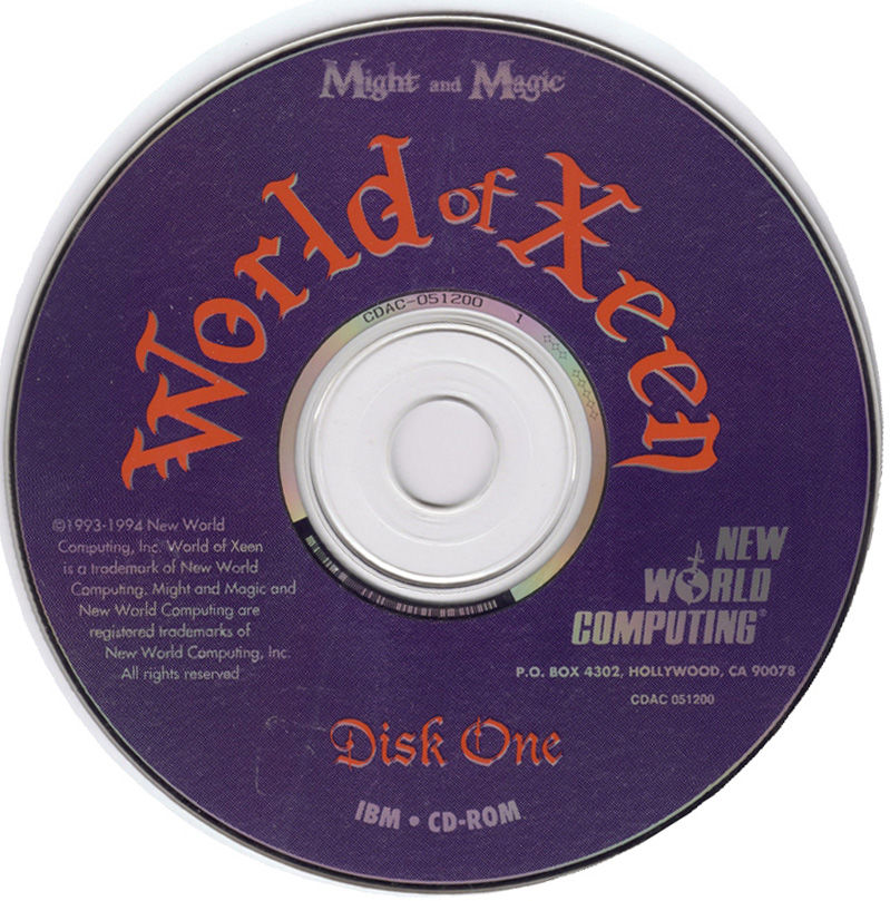 Might and Magic: World of Xeen DOS Media