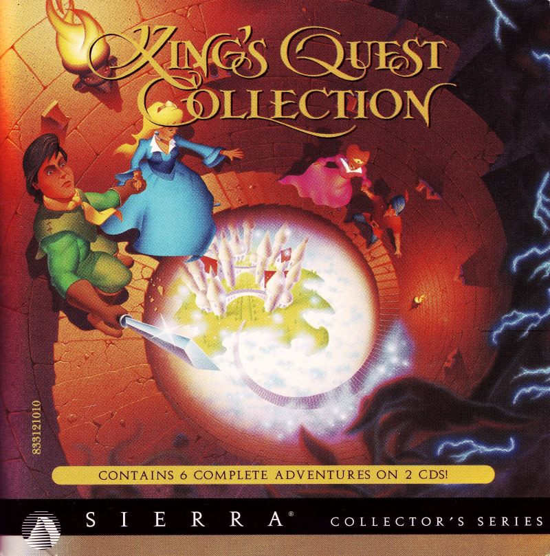 King's Quest (Collector's Edition) DOS Other Jewel Case - Front