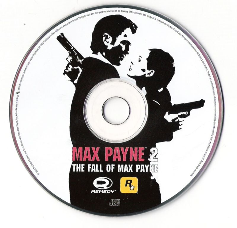 Max Payne 2: The Fall of Max Payne Windows Media Game disc