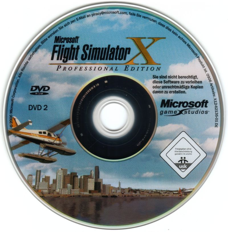 Microsoft Flight Simulator X (Deluxe Edition) Windows Media Disc 2