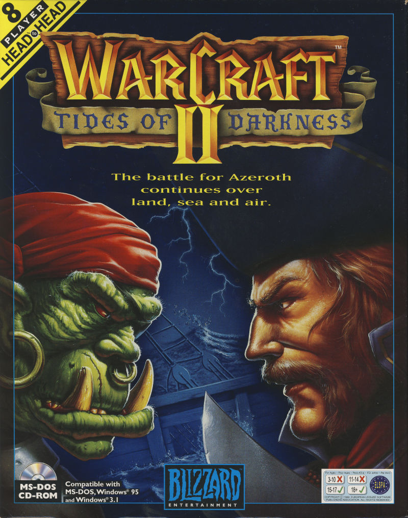 Warcraft II: Tides of Darkness DOS Front Cover