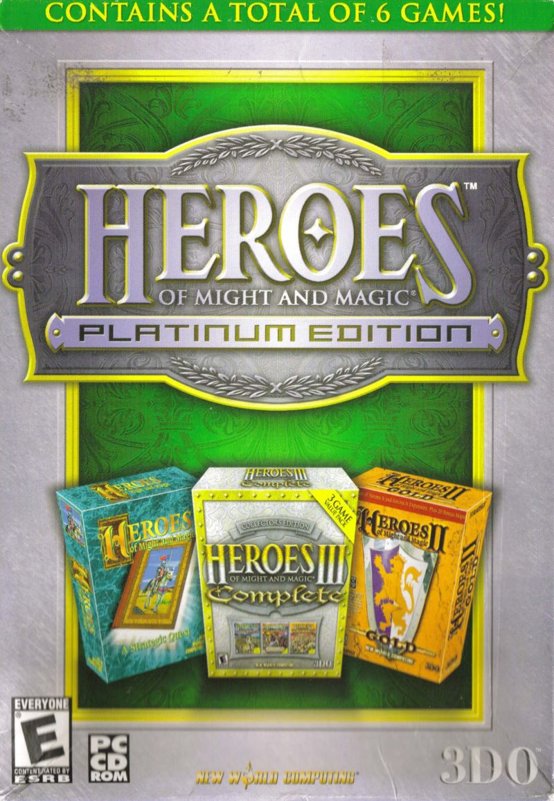 Heroes of Might and Magic (Platinum Edition) Windows Front Cover