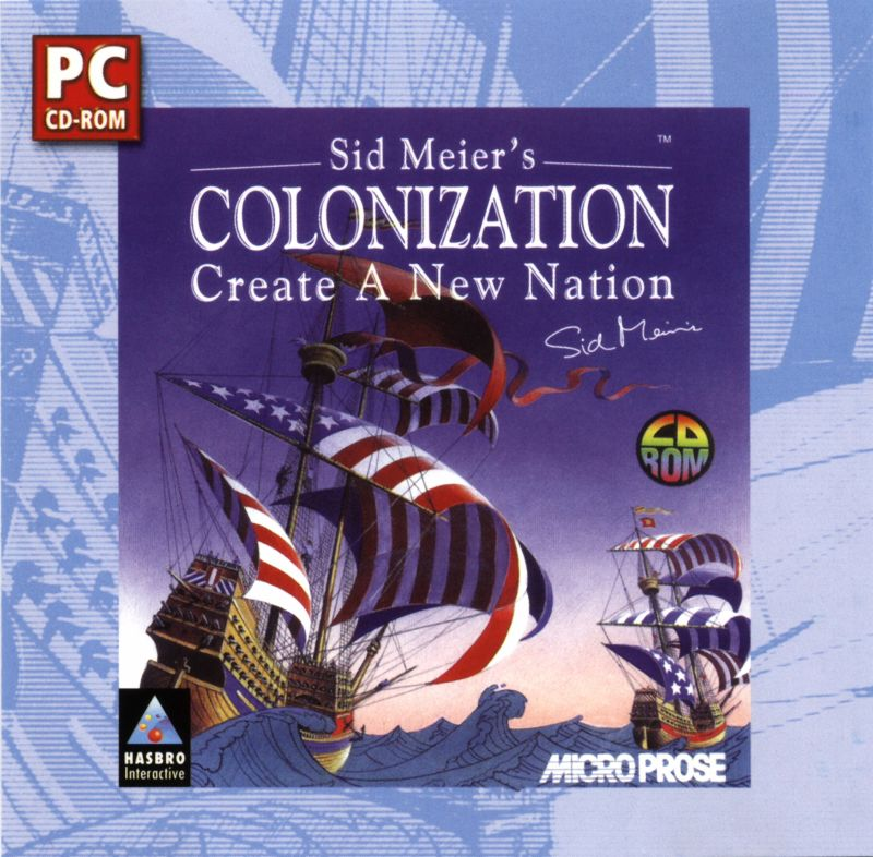 Sid Meier's Colonization DOS Front Cover