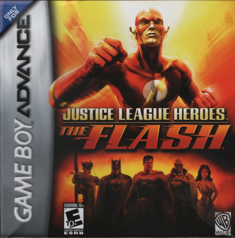 Justice League Heroes: The Flash Game Boy Advance Front Cover