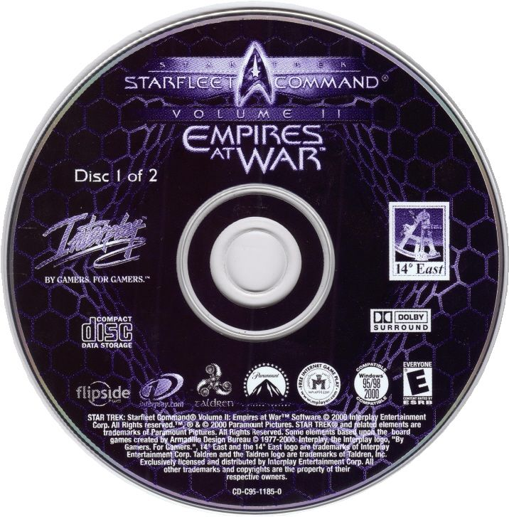 Star Trek: Starfleet Command Volume II - Empires at War Windows Media Disc 1/2