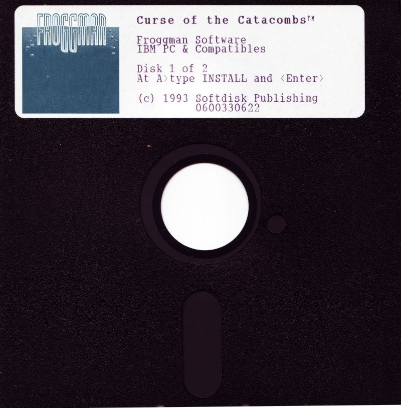 "Curse of the Catacombs DOS Media 5.25"" Disk 1/2"