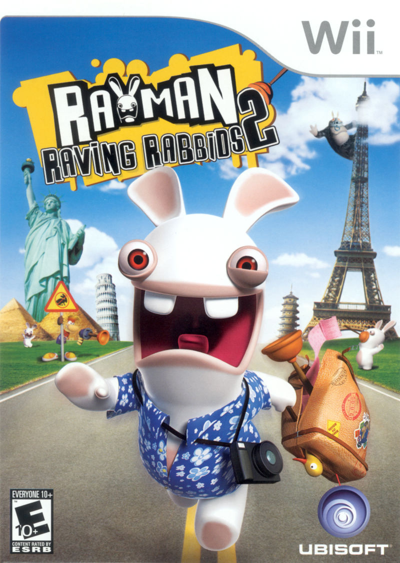 Rayman Raving Rabbids 2 Wii Front Cover