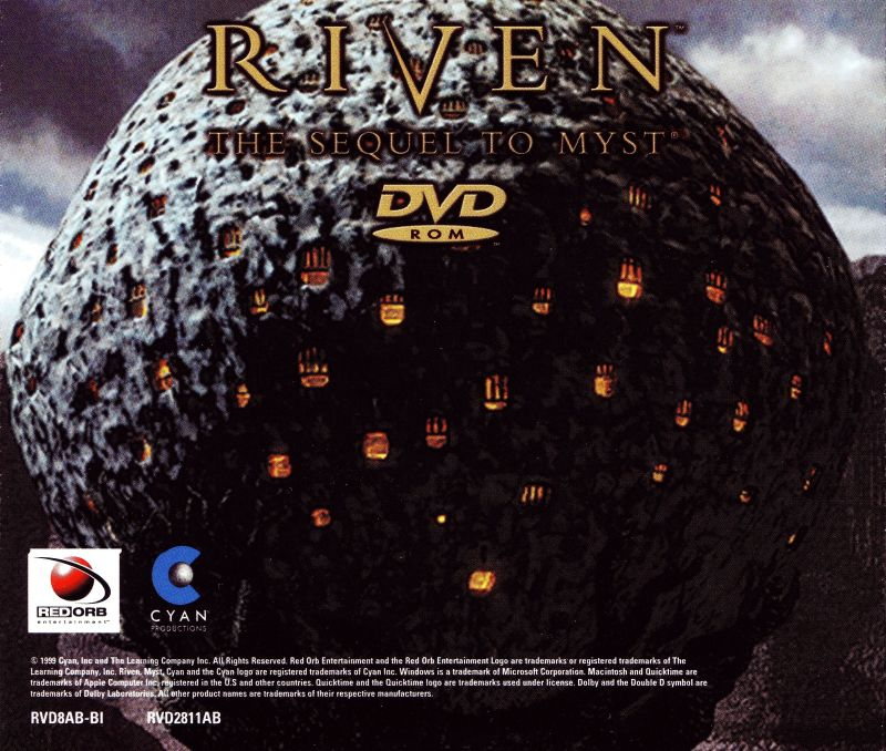 Riven: The Sequel to Myst Windows Other Jewel Case - Back