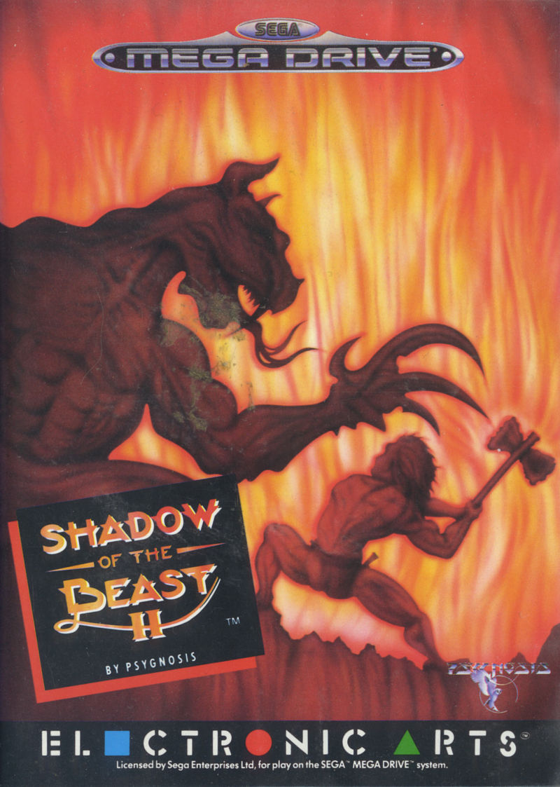 Shadow of the Beast II Genesis Front Cover