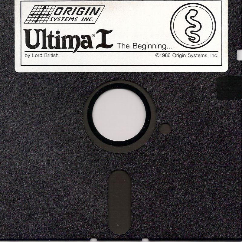 Ultima I: The First Age of Darkness DOS Media