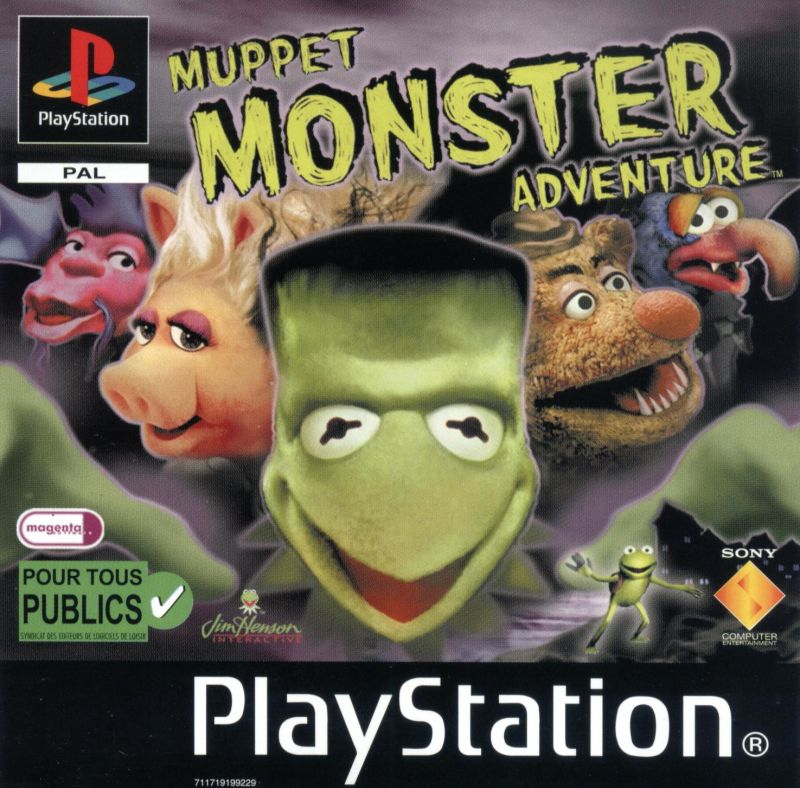 Muppet Monster Adventure PlayStation Front Cover