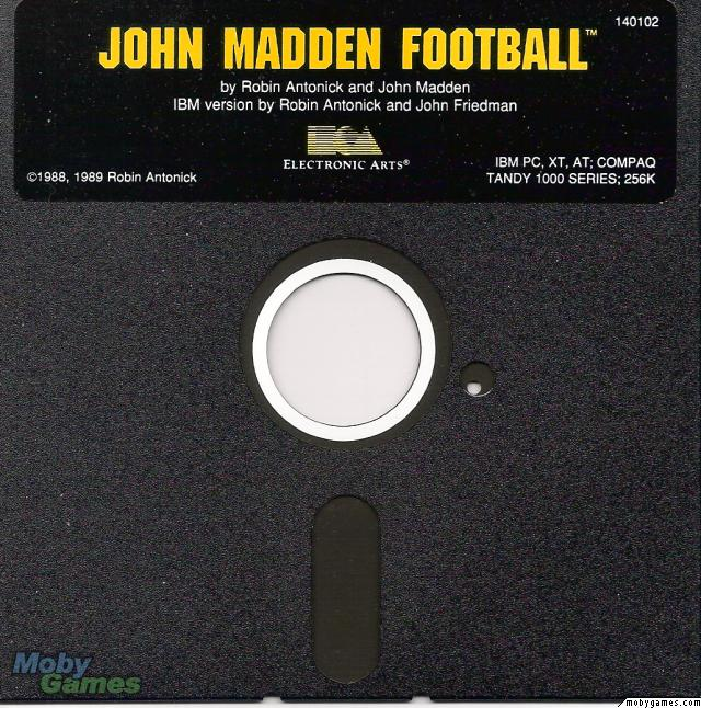 John Madden Football DOS Media