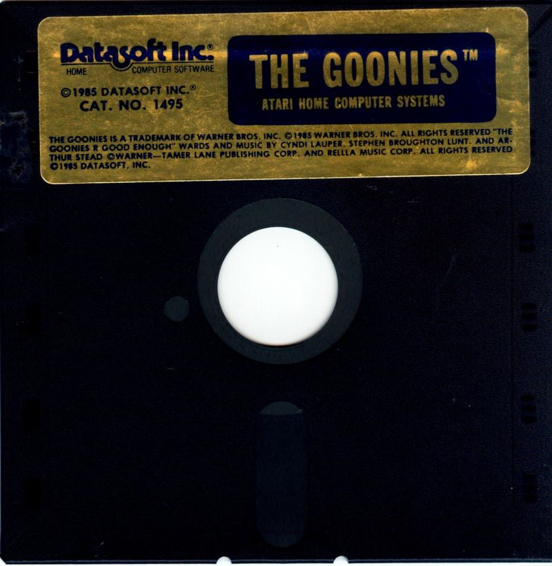 The Goonies Atari 8-bit Media Atari 8-bit side