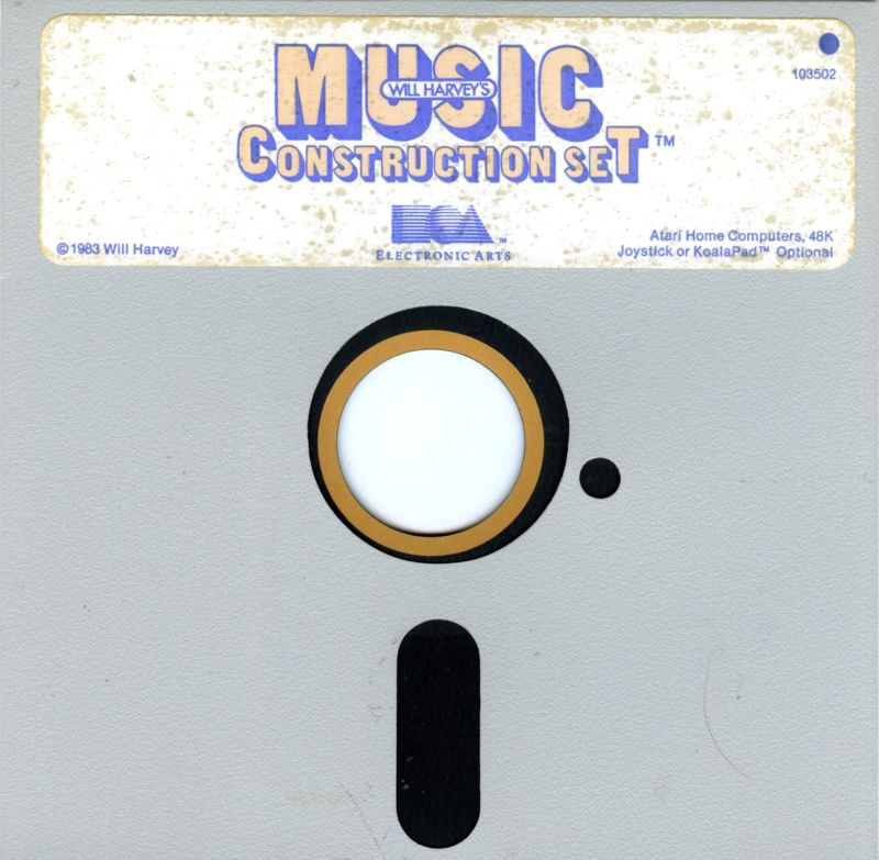 Will Harvey's Music Construction Set Atari 8-bit Media