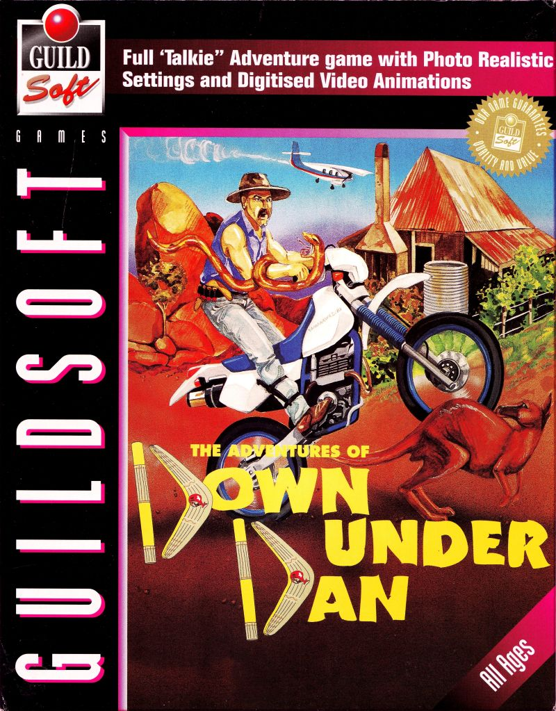 The Adventures of Down Under Dan DOS Front Cover
