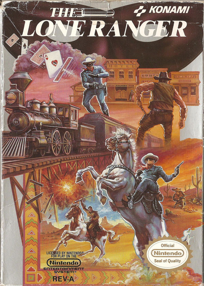 The Lone Ranger NES Front Cover