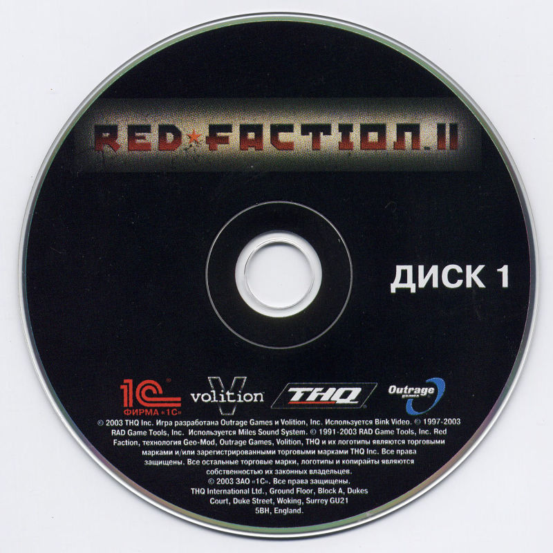 Red Faction II Windows Media Disc 1/2