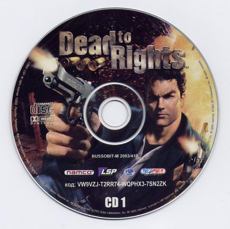 Dead to Rights Windows Media Disc 1/3