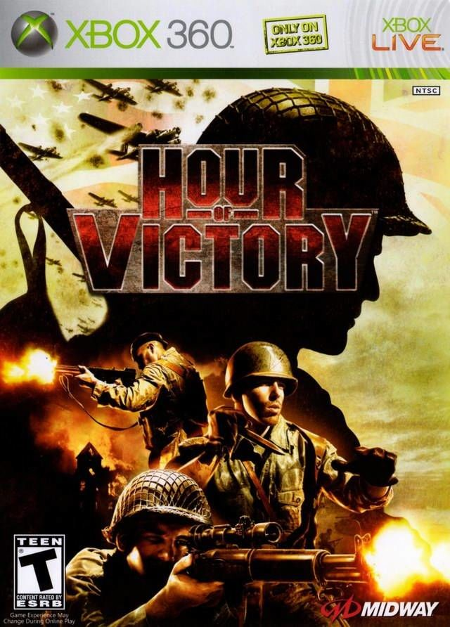 Hour of Victory Xbox 360 Front Cover
