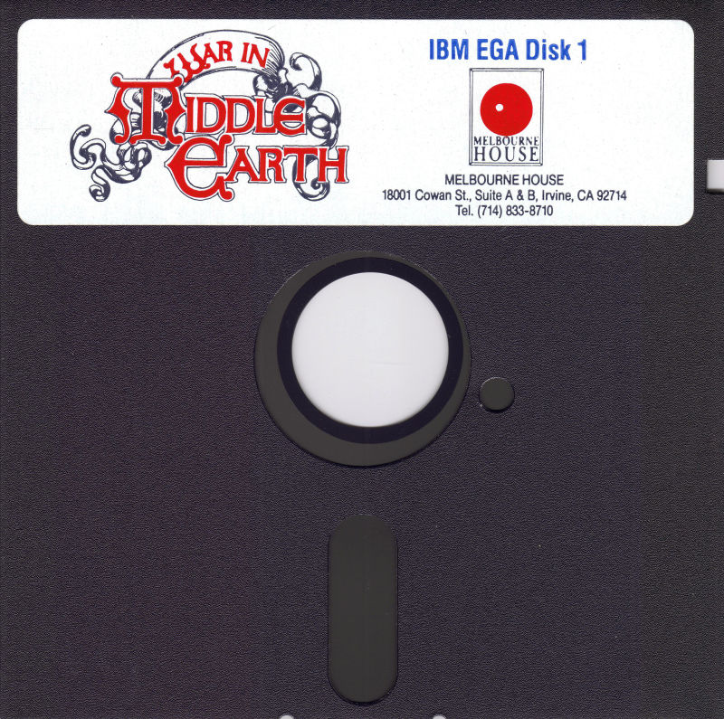 J.R.R. Tolkien's War in Middle Earth DOS Media Disk 1/3