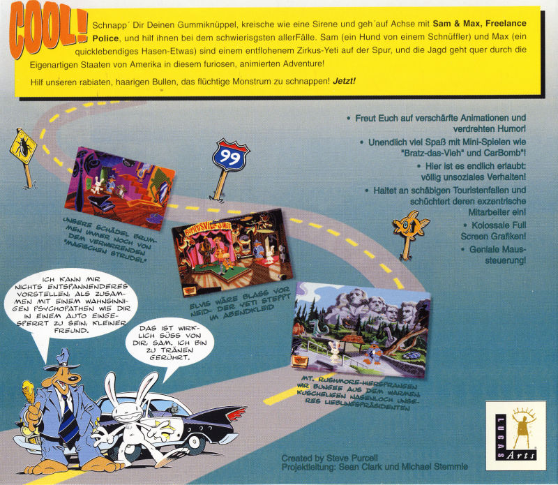 Sam & Max Hit the Road DOS Other Jewel Case - Back
