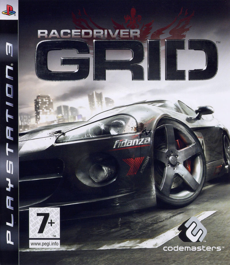 GRID PlayStation 3 Front Cover