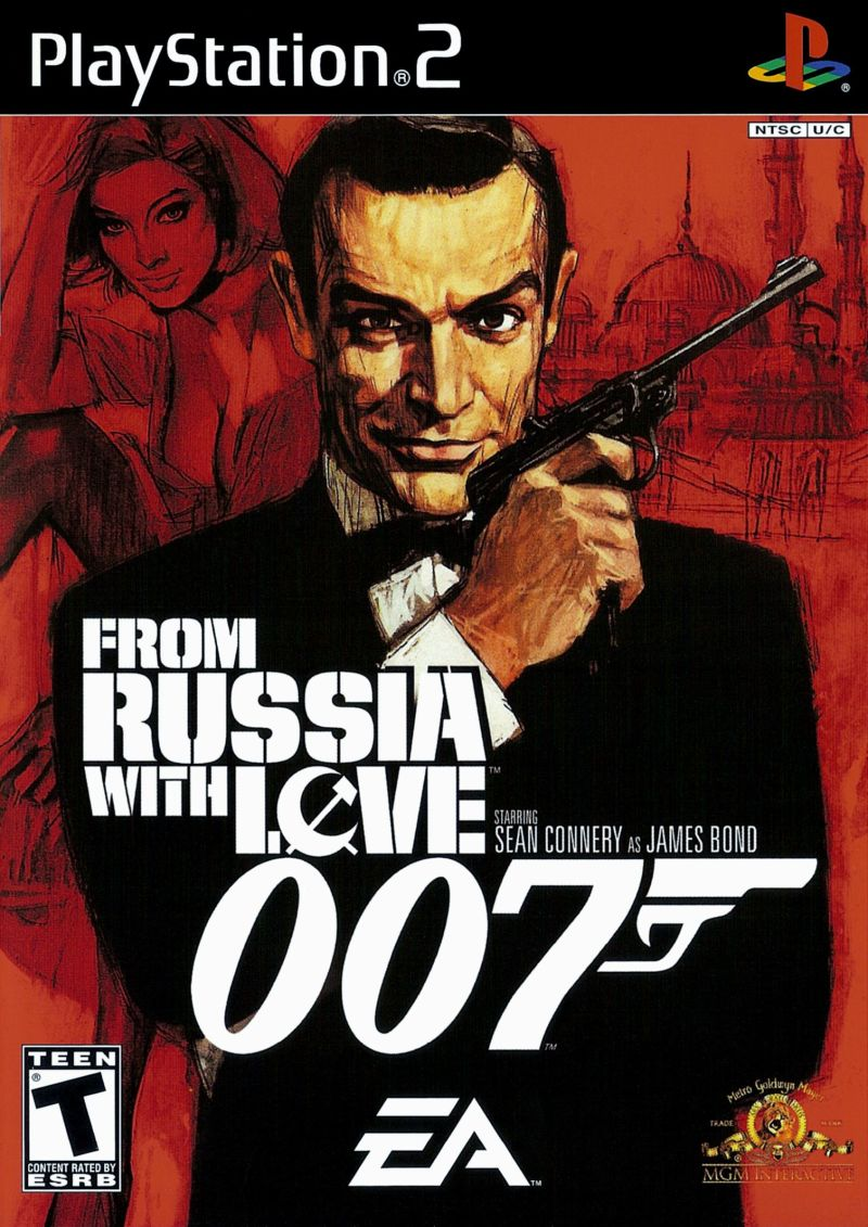 From Russia with Love PlayStation 2 Front Cover