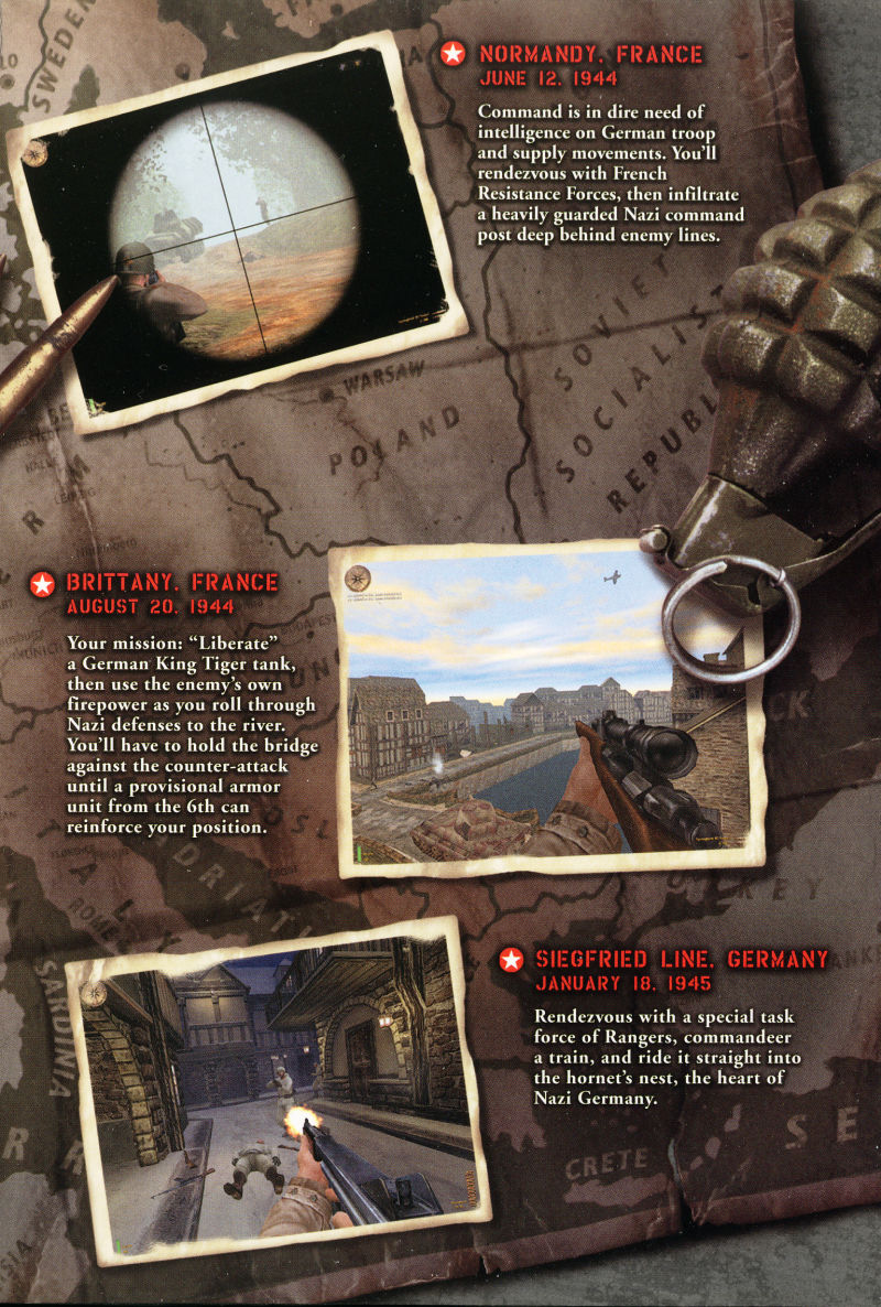 Medal of Honor: Allied Assault Windows Inside Cover Right Flap