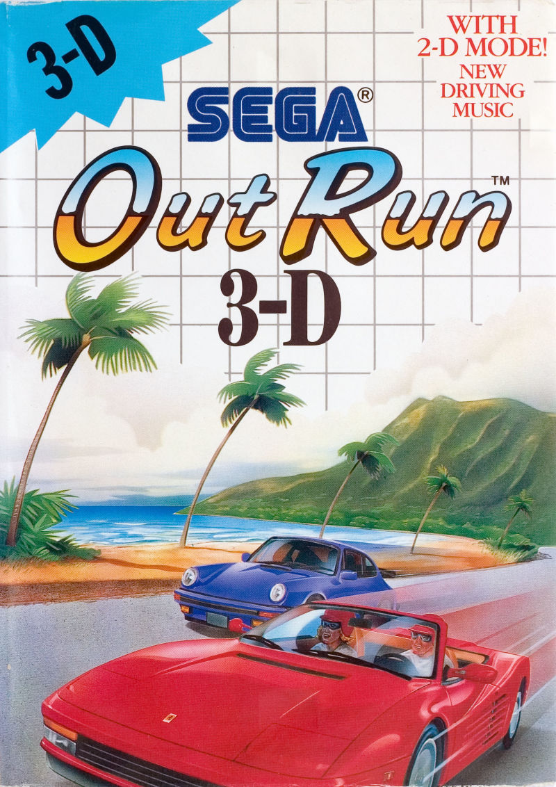 Out Run 3-D SEGA Master System Front Cover