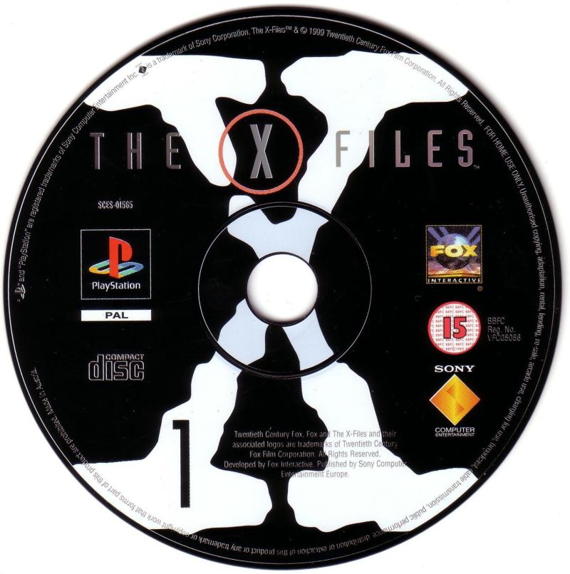 The X-Files Game PlayStation Media Disc 1