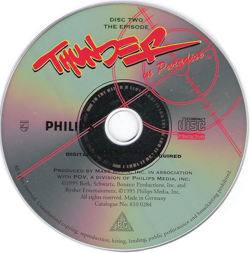 "Thunder in Paradise Interactive CD-i Media Episode Disc ""The M.a.j.o.r and the Minor"""