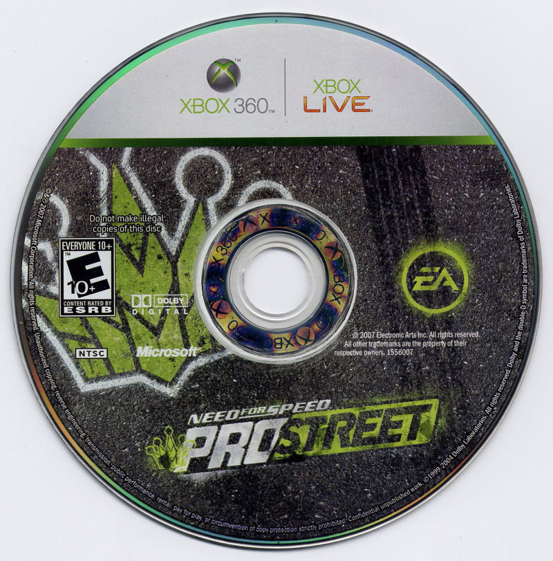 Need for Speed: ProStreet Xbox 360 Media