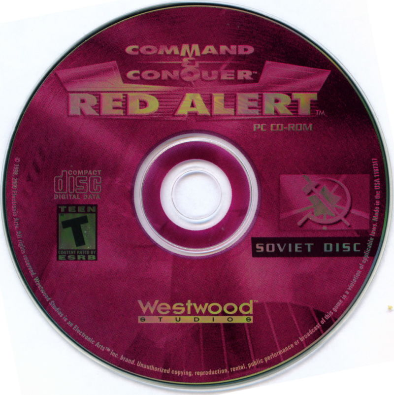 Electronic Arts Top Ten - Blue Windows Media Command & Conquer: Red Alert (Soviet Disc)