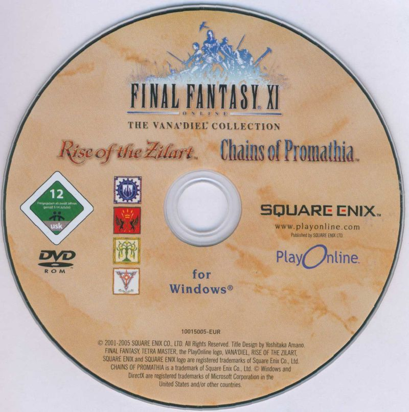 Final Fantasy XI Online: The Vana'Diel Collection Windows Media Game disc