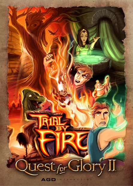 Quest for Glory II: Trial by Fire Windows Front Cover